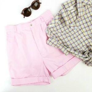 Vintage Baby Pink High Waist Shorts